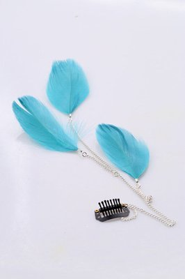 Feather-extension hair clip