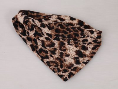 Leopard 2-way bandanna headband