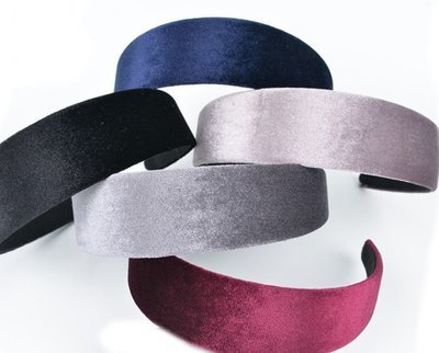 Premium velvet wide headband