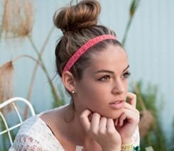 Pretty knotted elastic headbands 00261