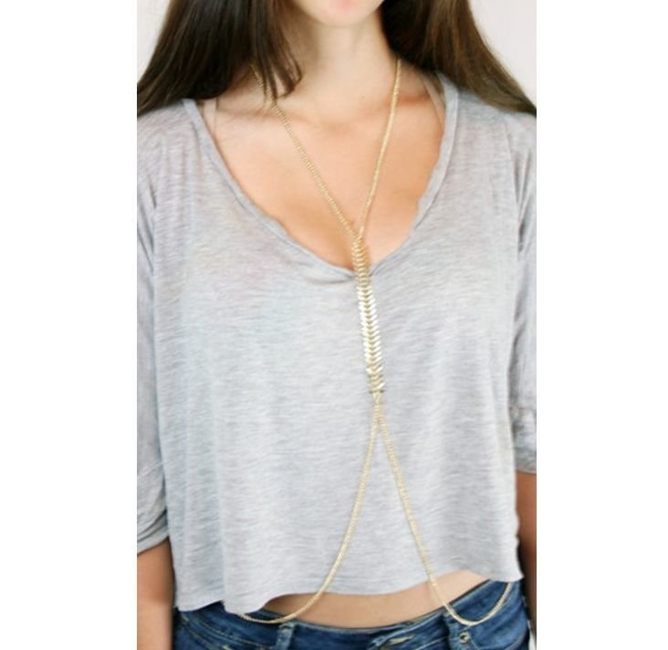 """Fish bone"" body chain"