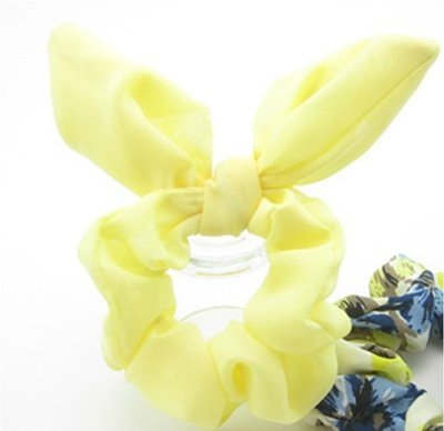 Plain chiffon scrunchies with bow