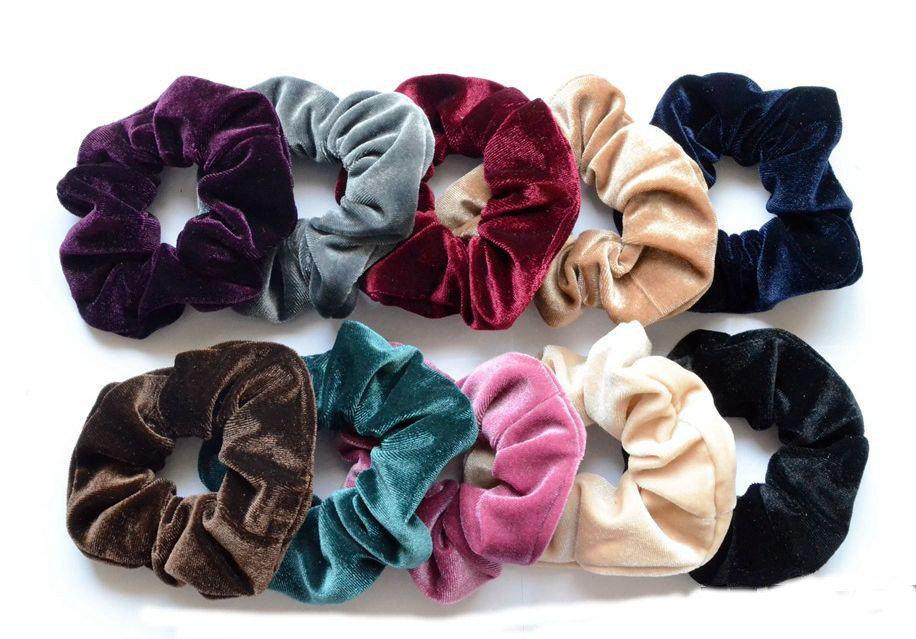 Smooth velvet scrunchies 01515