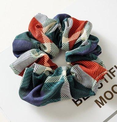 Bright plaids scrunchies