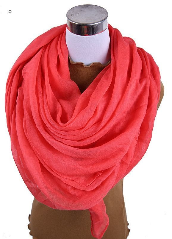 Large size solid long scarf