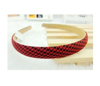Red/black checkers headband