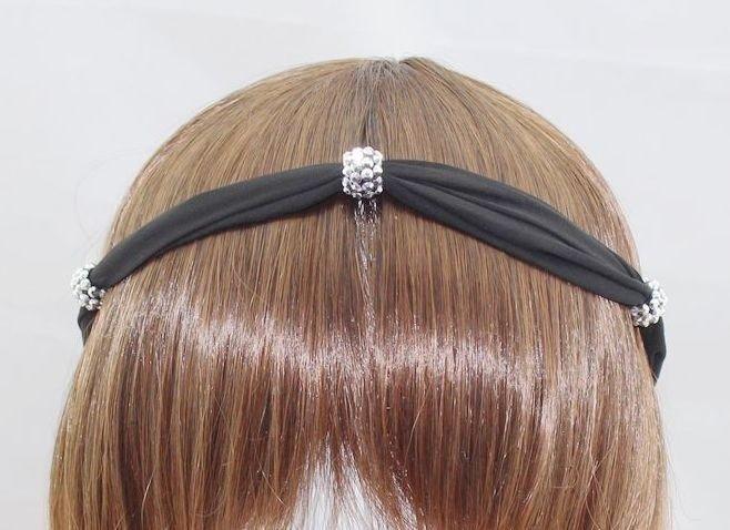 Chiffon-ribbon elastic headband 00325