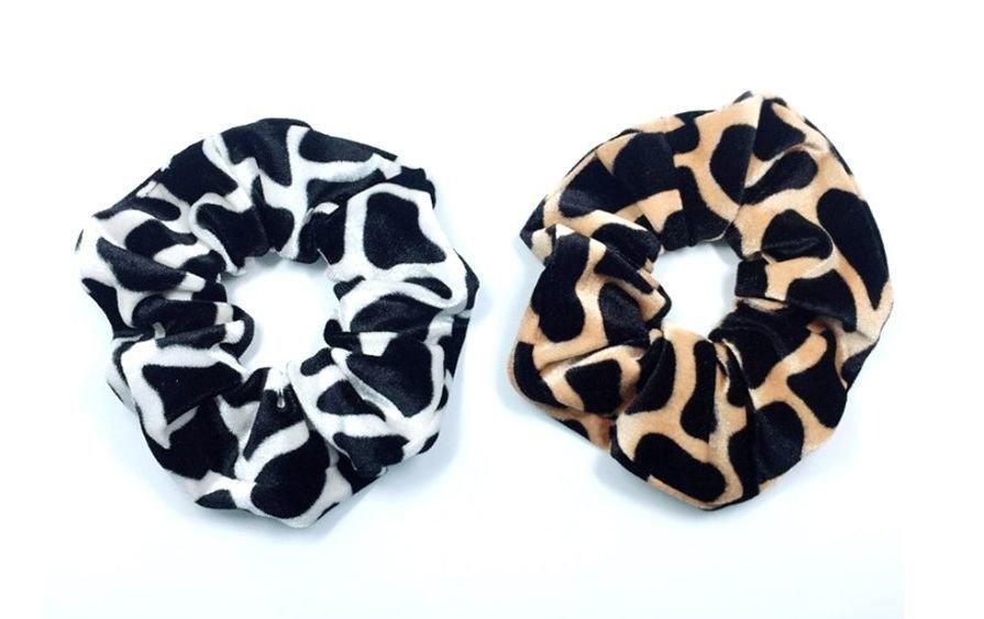 Stone patterned velvet scrunchies