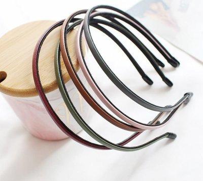 Extra thin leather headband