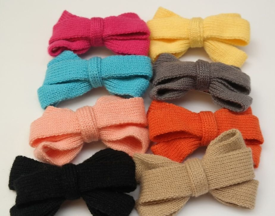 Knitted bowknot hair clip 00567