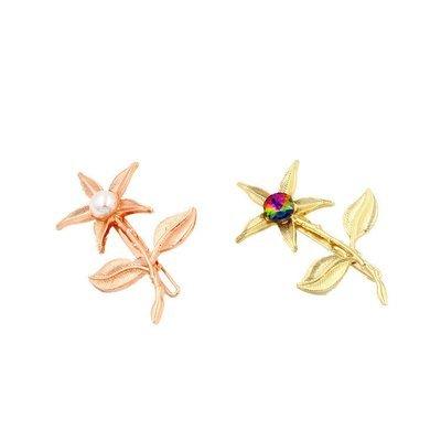 Flower branch hair clip