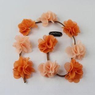 Chiffon flower hair clip hair tie