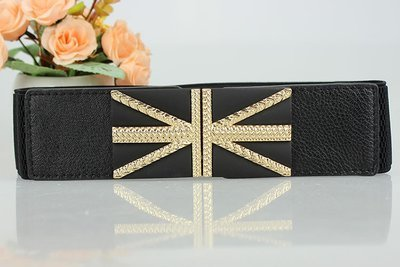 Flag buckle stretch belt