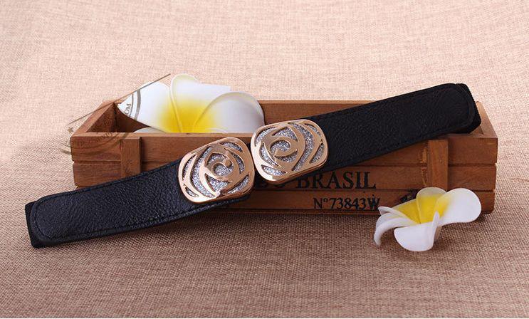 Glitter rose stretch belt