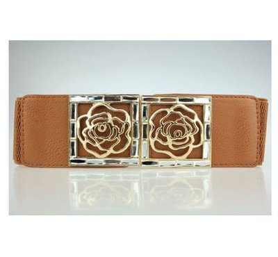Gold rose stretch belt