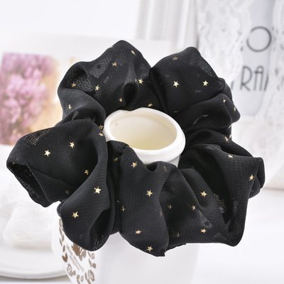 Gold stars chiffon scrunchies