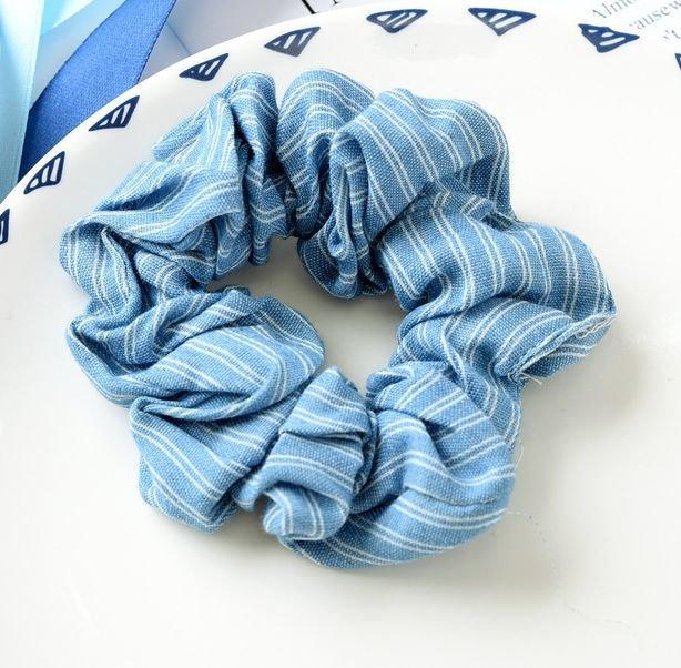 Jeans strips scrunchies