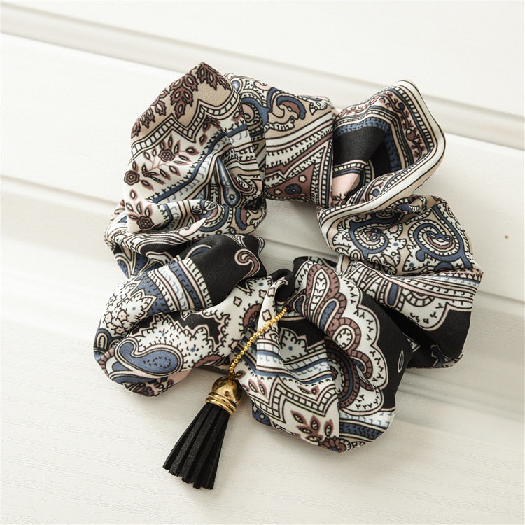 Bohemian scrunchies with tassel