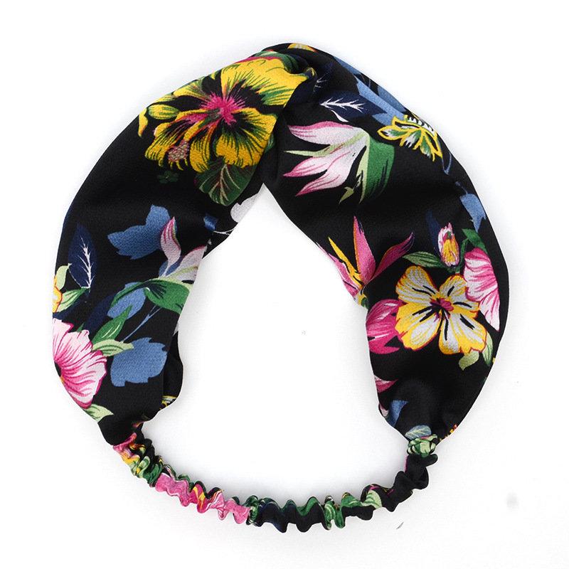 Iris floral silk turban headband
