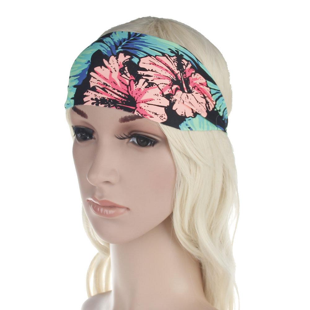 Swimwear fabric bandanna headband