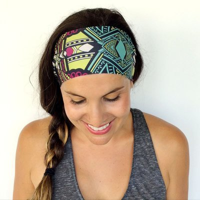 Swimwear fabric bandanna headband