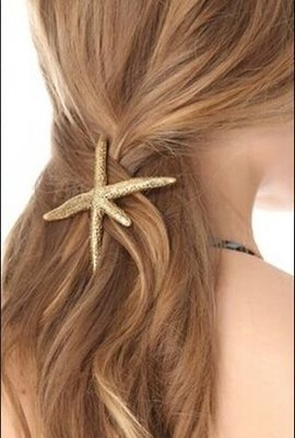 Premium star fish barrette