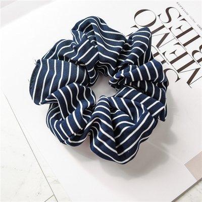 Striped scrunchies