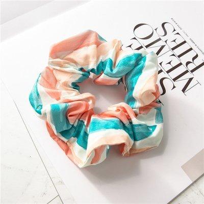 Rainbow striped scrunchies