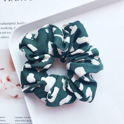 White leopard scrunchies