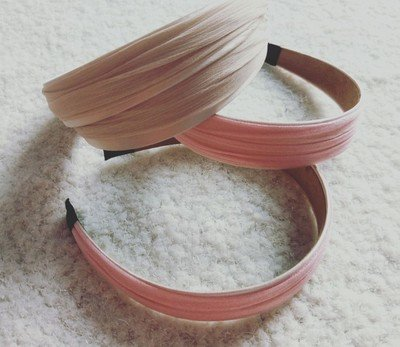 2-layer satin headband