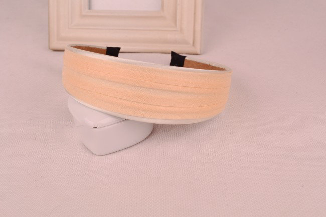 2-layer satin & chiffon wide headband