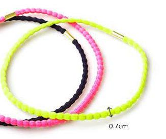 Bright colour elastic headband