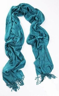 Plain colours silk long scarf