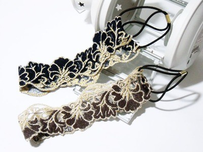 Lace flower headband