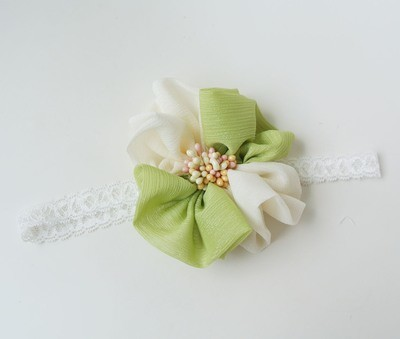 Holiday flower lace headband