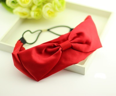 Satin bowknot headband