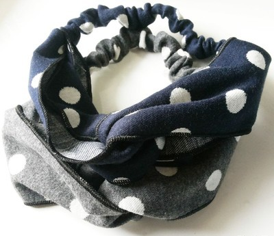 polka dots warm turban headband