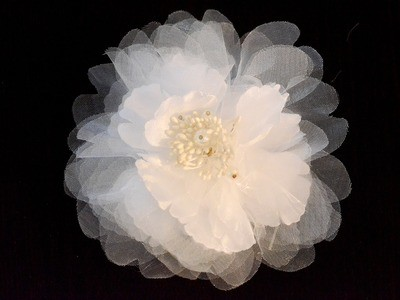 Large multi-layered organza flower
