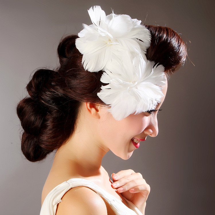 Double-feather flower hair stick