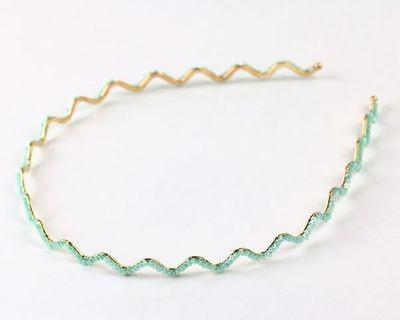 Crystal tubes swirl headband