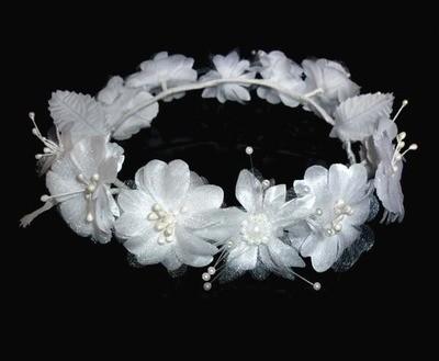 White flower wreath