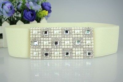 Luxury gems stretch belt