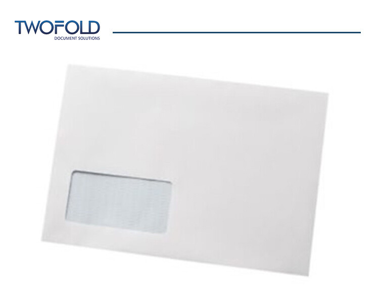 C5 White Low Window Machine Envelopes (1000)