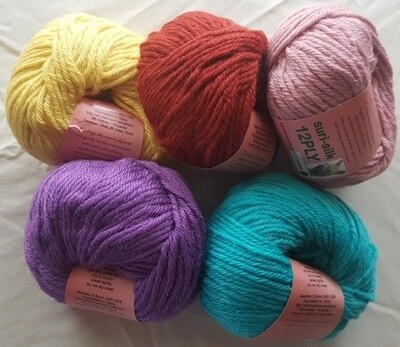 12ply SURI SILK yarns - superb baby suri (alpaca), lustrous fine finnsheep, silk blend  - bright lemon, rustic, shell pink, lilac, seachange(aqua) in 50g balls AU$11.55 each
