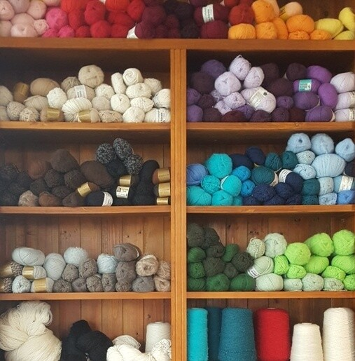 Introducing our updated online store, serving our yarn customers for over 20 years now. HOVER OVER AND CLICK ON A YARN CATEGORY ICON ON THE TOP ROW TO SEE THE FULL RANGE.