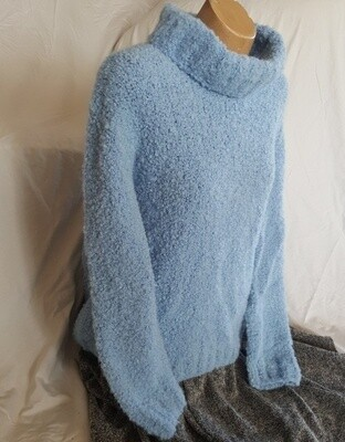 SUPER SPECIAL Sky blue Ladies Jumper with neck roll top/cowl, Pre-Winter Special, normally $350.00