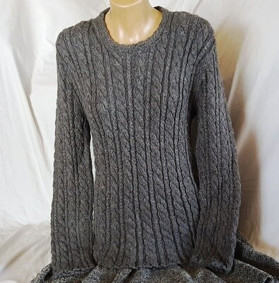 Mid grey Cable Ladies Jumper    Pre-Winter Special, normally $350.00