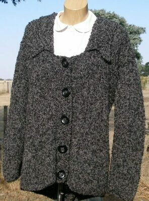 Ladies Jacket, Wide neck bi-color charcoal, Pre-Winter Special, normally $400.00