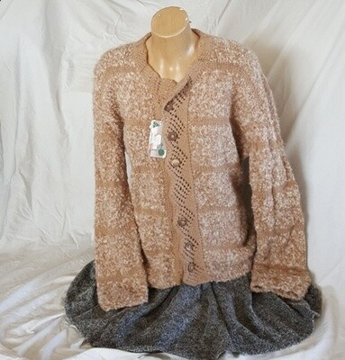 Ladies Jacket - Honeycomb, lace collar button up round neck, Pre-Winter Special, normally $400.00
