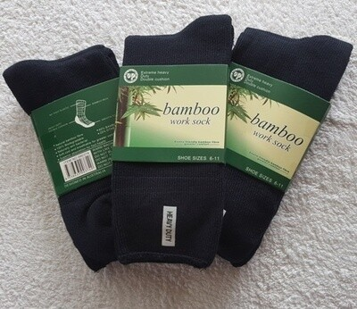 Bamboo Socks - heavy duty work sock made from ecologically sustainable bamboo production, super soft and absorbent. Bargain priced at AU$9.50 per pair